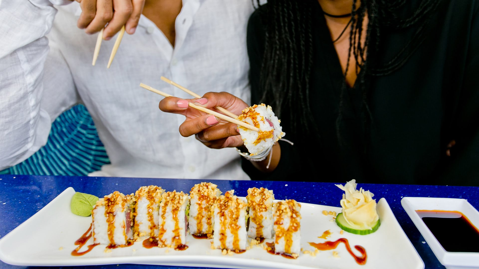 Win Dinner for 2 - Dinner Contest | Pensacola Beach Roll | H2O Grill and Bonsai Sushi Bar | Pensacola Beach FL
