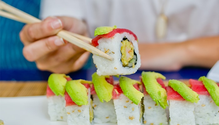 HPB Sushi Roll | H2O Grill and Bonsai Sushi Bar | Pensacola Beach FL | Featured Image