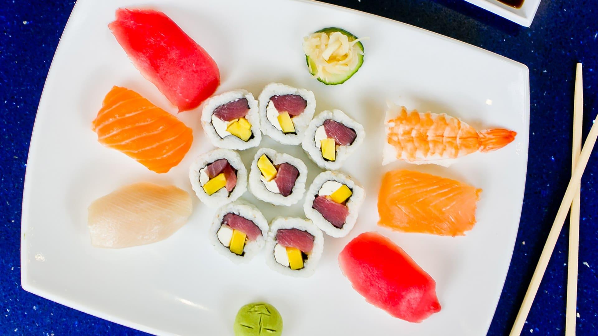 Sushi Platter | H2O Grill and Bonsai Sushi Bar | Pensacola Beach FL